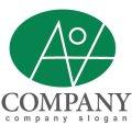 A・V・人・楕円・アルファベット・ロゴ・マークデザイン3392
