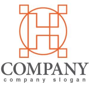 画像1: H・輪・線・アルファベット・ロゴ・マークデザイン3405