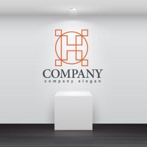 画像2: H・輪・線・アルファベット・ロゴ・マークデザイン3405