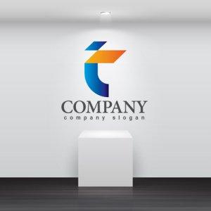 画像2: T・菱形・グラデーション・アルファベット・ロゴ・マークデザイン3439