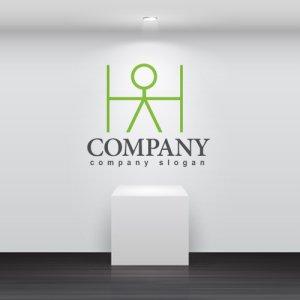 画像2: H・人・アルファベット・ロゴ・マークデザイン3520