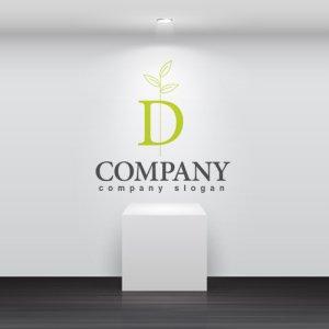 画像2: D・葉・成長・アルファベット・ロゴ・マークデザイン3523
