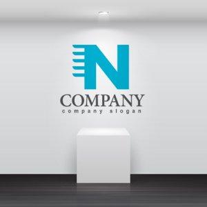 画像2: N・移動・スピード・アルファベット・ロゴ・マークデザイン3620
