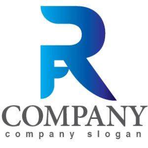 画像1: R・F・グラデーション・ロゴ・マークデザイン3626