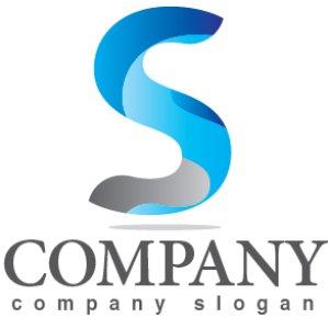 画像1: S・シンプル・曲線・アルファベット・ロゴ・マークデザイン3635