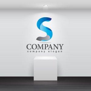 画像2: S・シンプル・曲線・アルファベット・ロゴ・マークデザイン3635