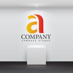 画像2: a・曲線・グラデーション・アルファベット・ロゴ・マークデザイン3636
