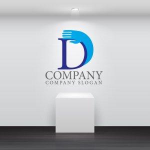 画像2: D・手・上昇・アルファベット・ロゴ・マークデザイン3653