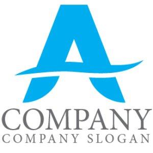 画像1: A・曲線・シンプル・アルファベット・ロゴ・マークデザイン3660