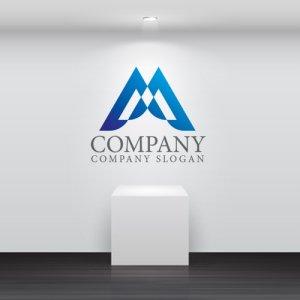 画像2: M・三角・山・グラデーション・ロゴ・マークデザイン3664