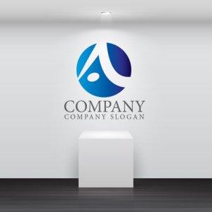 画像2: A・輪・曲線・グラデーション・ロゴ・マークデザイン3698