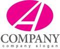 A・楕円・シンプル・アルファベット・ロゴ・マークデザイン3770