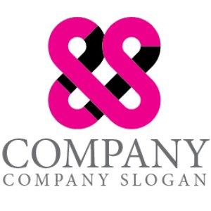 画像1: S・S・繋がり・アルファベット・ロゴ・マークデザイン4330