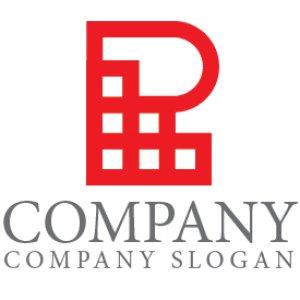 画像1: R・階段・ビル・家具・アルファベット・ロゴ・マークデザイン4399