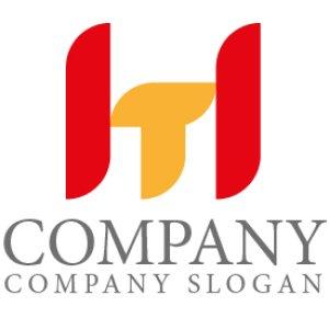 画像1: H・T・シンプル・アルファベット・ロゴ・マークデザイン4468