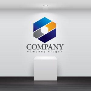 画像2: 六角形・グラデーション・ロゴ・マークデザイン379