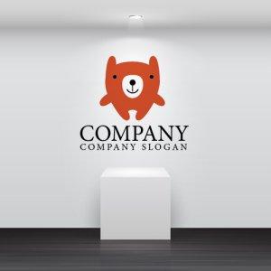 画像2: クマ・ぬいぐるみ・笑顔・ロゴ・マークデザイン053