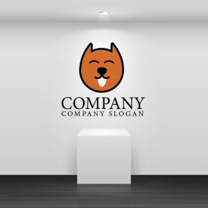 画像2: 犬・舌・笑顔・動物・ロゴ・マークデザイン055
