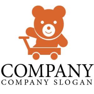 画像1:  クマ・ぬいぐるみ・おもちゃ・動物・ロゴ・マークデザイン057