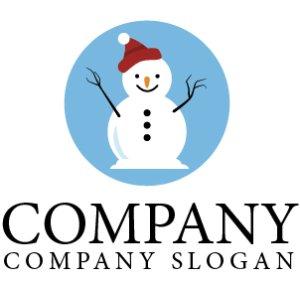 画像1: 雪だるま・帽子・キャラ・ロゴ・マークデザイン076