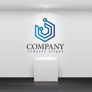 画像2: 回線・六角形・ネットワーク・ロゴ・マークデザイン072