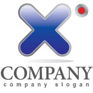 画像1: X・アルファベット・グラデーション・ロゴ・マークデザイン020