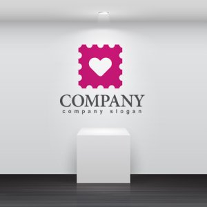 画像2: ハート・切手・四角・ロゴ・マークデザイン213