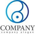 画像1: 輪・目・線・B・グラデーション・ロゴ・マークデザイン294 (1)