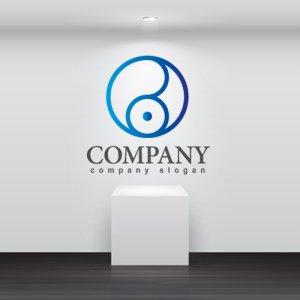 画像2: 輪・目・線・B・グラデーション・ロゴ・マークデザイン294