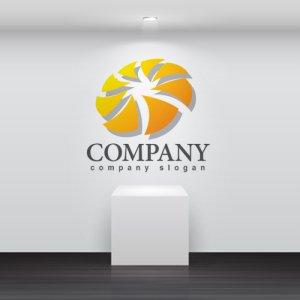 画像2: 輪・風車・グラデーション・ロゴ・マークデザイン308