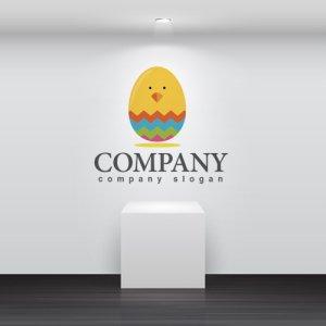 画像2: ひよこ・卵・イースター・ロゴ・マークデザイン276