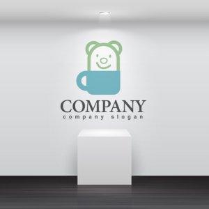 画像2: クマ・動物・かわいい・カップ・ロゴ・マークデザイン331