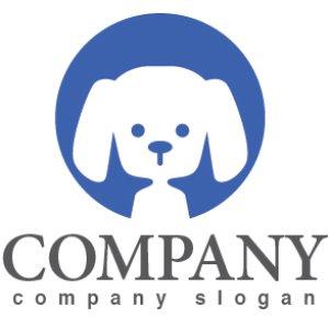 画像1: 犬・プードル・輪・ロゴ・マークデザイン360