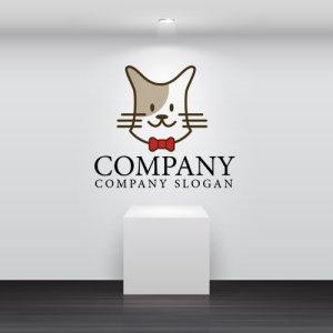 画像2: 猫・蝶ネクタイ・ヒゲ・ロゴ・マークデザイン367
