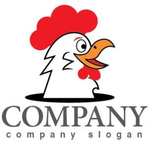 画像1: 鶏・鶏冠・くちばし・ロゴ・マークデザイン369