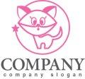 猫・星・輪・ロゴ・マークデザイン399