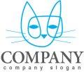 猫・線・動物・ロゴ・マークデザイン416