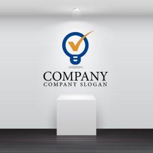 画像2: 電球・チェック・品質・ロゴ・マークデザイン133