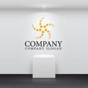 画像2: 電気・星・ヒトデ・回転・ロゴ・マークデザイン136