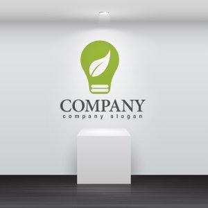 画像2: エコ・電球・葉・ロゴ・マークデザイン170