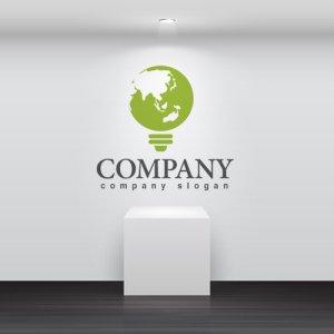 画像2: エコ・電球・地球・ロゴ・マークデザイン171