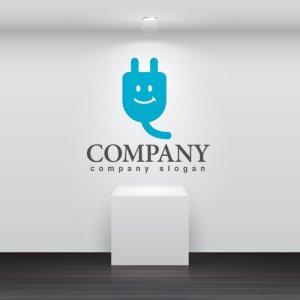 画像2: コンセント・配線・プラグ・笑顔・ロゴ・マークデザイン174