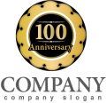 anniversary・記念・100周年・コイン・ロゴ・マークデザイン026