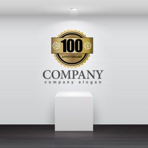 画像2: anniversary・記念・100周年・ゴールド・ロゴ・マークデザイン027
