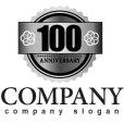 画像4: anniversary・記念・100周年・ゴールド・ロゴ・マークデザイン027
