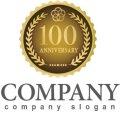 anniversary・記念・100周年・メダル・ロゴ・マークデザイン028