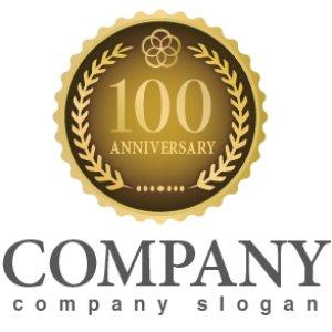 画像1: anniversary・記念・100周年・メダル・ロゴ・マークデザイン028