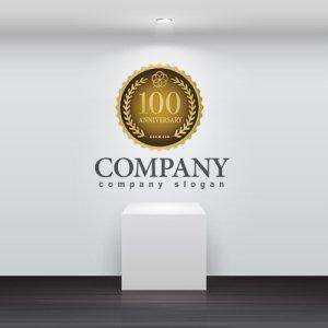 画像2: anniversary・記念・100周年・メダル・ロゴ・マークデザイン028