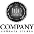画像4: anniversary・記念・100周年・メダル・ロゴ・マークデザイン028