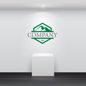 画像4: 山・六角形・アルファベット・ロゴ・マークデザイン029